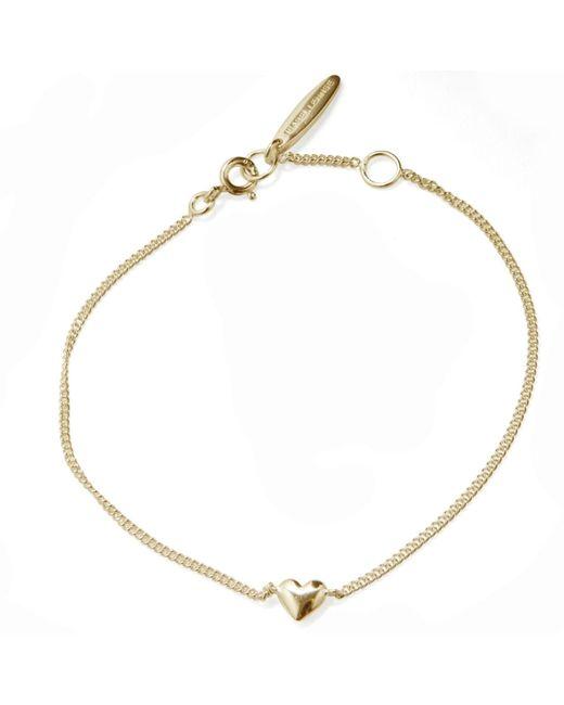 Isabel Lennse | Metallic Mini Heart Gold Bracelet | Lyst
