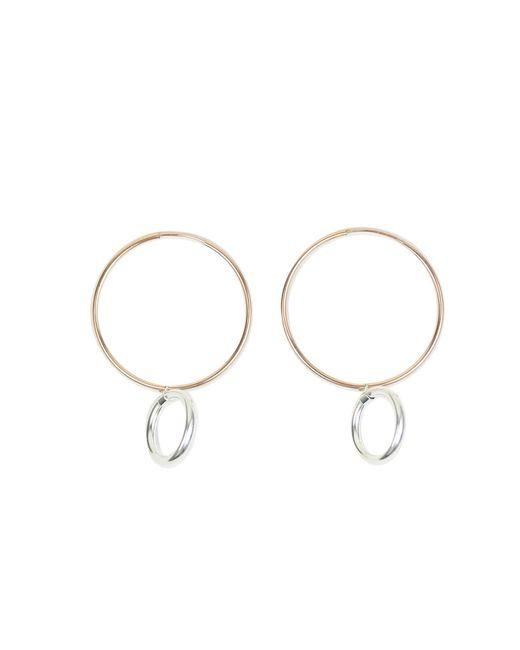 Alison Fern Jewellery | Metallic Easton Silver & Rose Gold Hoop Earrings | Lyst