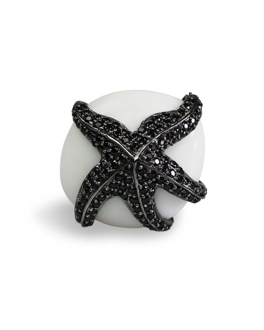 Bellus Domina | White Adjustable Starfish Cocktail Ring | Lyst