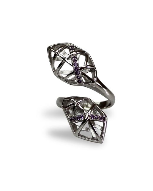 Bellus Domina | Metallic Amethyst Hexa Ring | Lyst