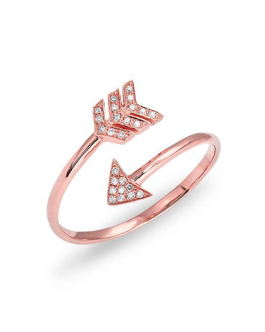 Anne Sisteron   Multicolor Rose Gold Diamond Mini Arrow Wrap Ring   Lyst