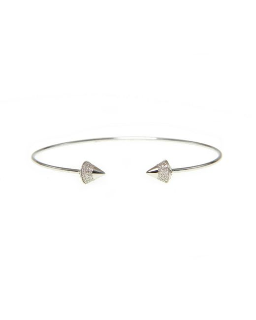 Ri Noor | Metallic Diamond Peaked Dome Bangle | Lyst