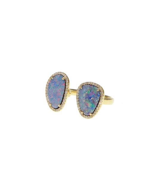Ri Noor | Metallic Double Opal Slice Diamond Ring | Lyst