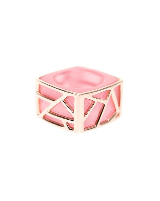 Ona Chan Jewelry | Square Cocktail Ring Pink Cat's Eye | Lyst