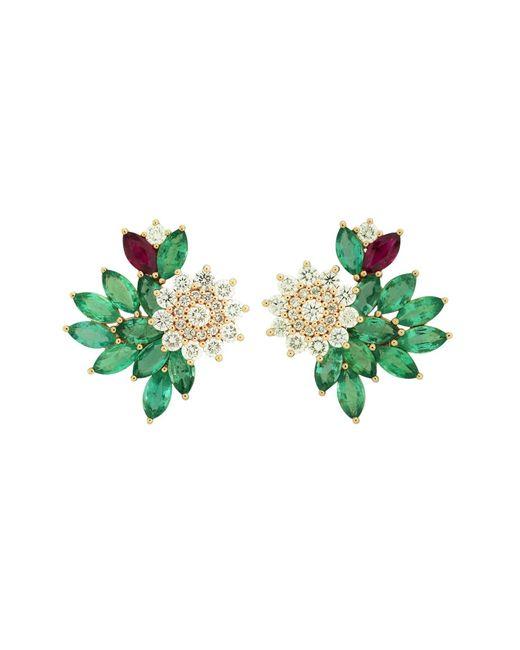 Joana Salazar | Multicolor Blossom Sparkling Earjackets | Lyst