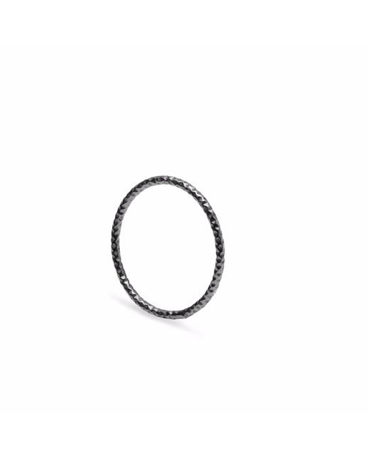 Myia Bonner | Black Skinny Diamond Faceted Stacking Ring | Lyst