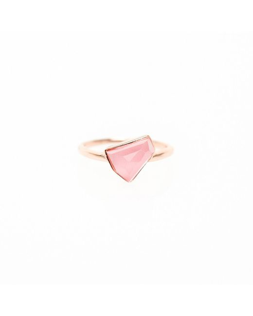 Ona Chan Jewelry | Boyfriend Lattice Ring Pink | Lyst
