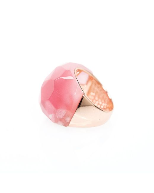Ona Chan | Round Cocktail Ring Pink | Lyst