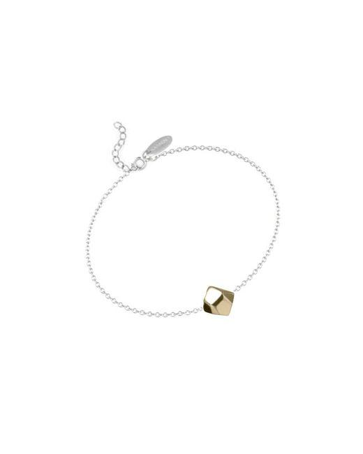 KAMENA JEWELLERY   Metallic Stones Bracelet Brass Shiny   Lyst