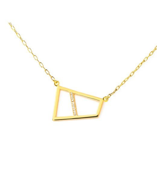 Ona Chan Jewelry | Metallic Double Lattice Necklace With Sapphire Gold | Lyst