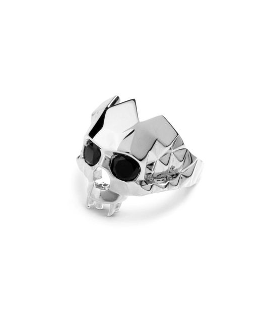 Kasun - Metallic Vampire Skull Ring Silver for Men - Lyst