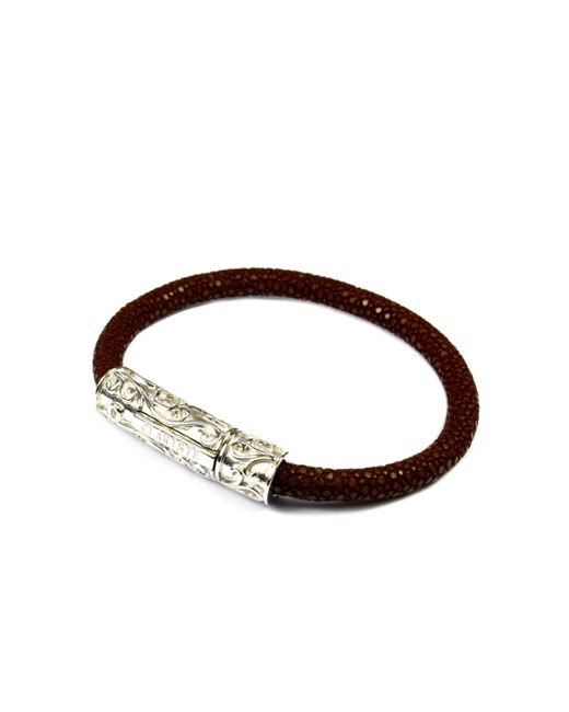 CLARISTE JEWELRY | Men's Brown Stingray Bracelet With Silver Lock for Men | Lyst