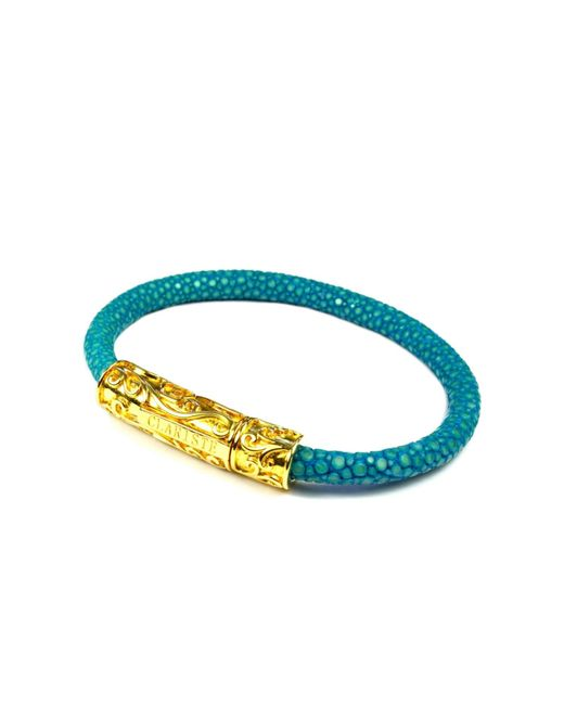 CLARISTE JEWELRY | Blue Women's Turquoise Stingray Bracelet With Gold Lock | Lyst