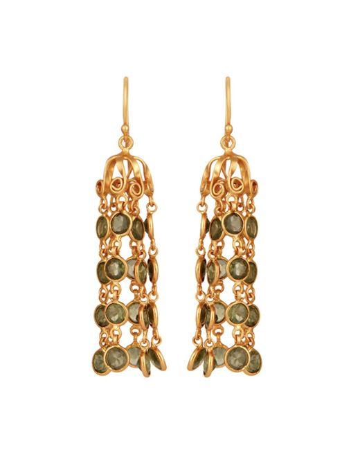 Carousel Jewels | Green Dome Waterfall Earrings With Peridot | Lyst