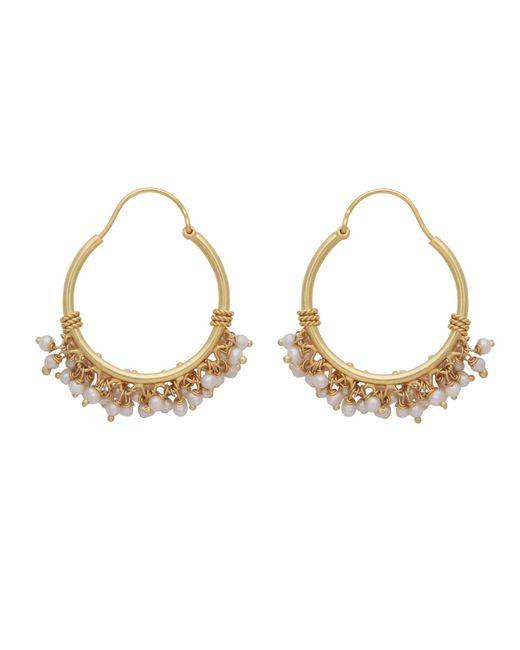 Carousel Jewels | Metallic Pearl Cluster Hoops | Lyst