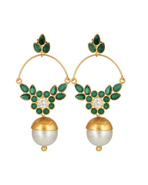 Carousel Jewels | Delicate Pearl & Green Onyx Earrings | Lyst