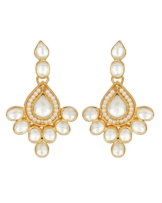 Carousel Jewels | Metallic Elegant Crystal & Pearl Drop Earrings | Lyst