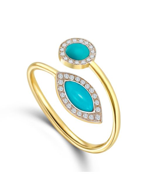 Elham and Issa Jewellery | Blue Awe Diamond Ring | Lyst