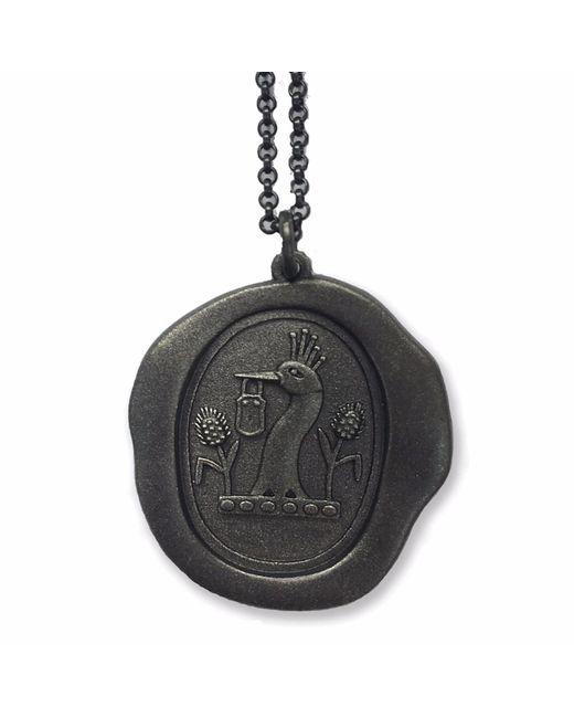 Serge Denimes   Black Gun Metal Padlock Pendant Necklace   Lyst