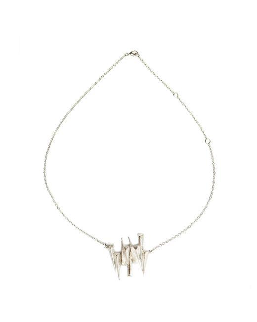Ona Chan Jewelry | Metallic Nine Dagger Necklace Silver | Lyst