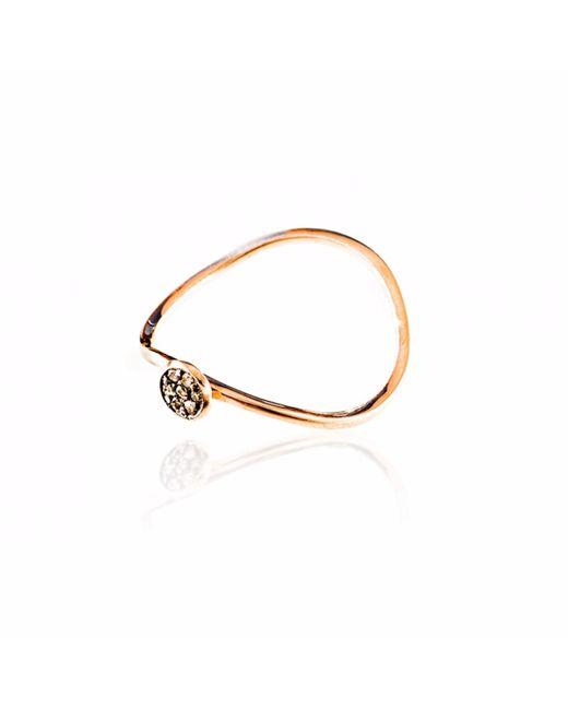 Sadekar Jewellery | Multicolor Brown Diamond Pave Ring | Lyst
