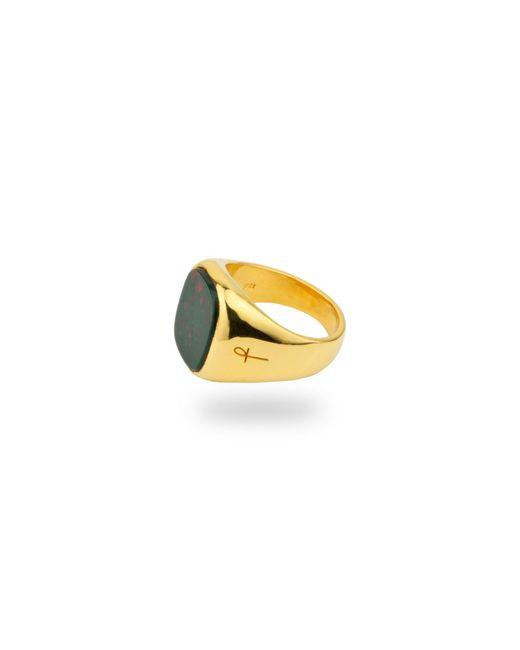 Phira London | Jamestown Green Bloodstone Gold | Lyst