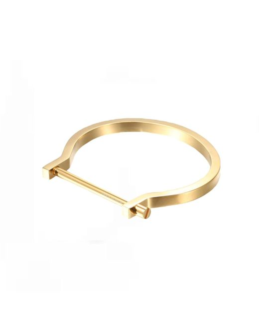 Opes Robur | Metallic Gold Classic Screw Cuff Bracelet | Lyst