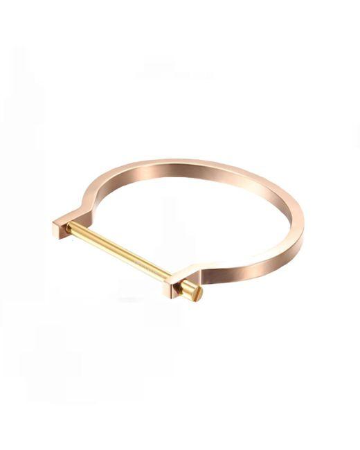 Opes Robur   Metallic Rose & Gold Classic Screw Cuff Bracelet   Lyst