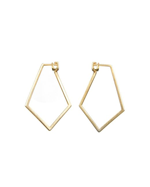 Dutch Basics | Metallic Ruit Creole Earrings Gold | Lyst