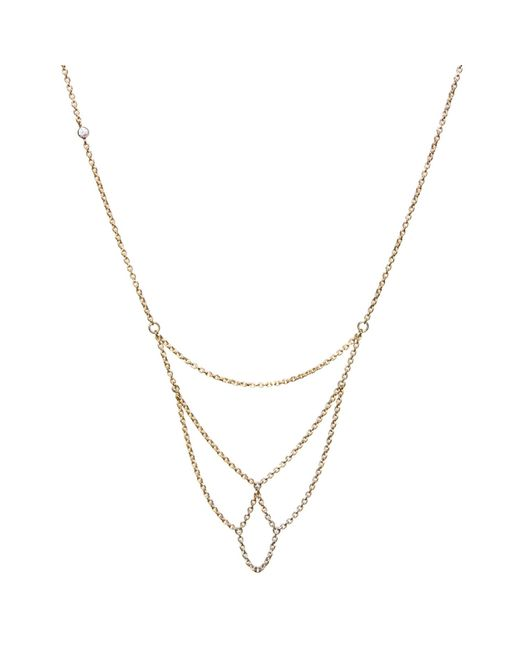 Dutch Basics | Metallic Boog Fine Chain Necklace Gold | Lyst