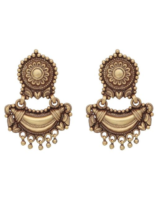 Carousel Jewels - Metallic Antique Finish Heritage Earrings - Lyst