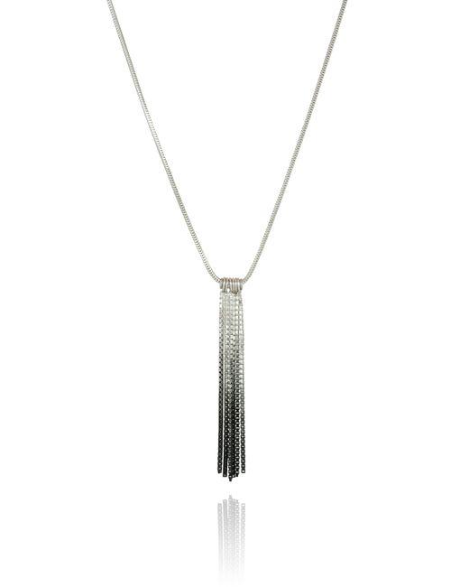 Cara Tonkin | Black Vesper Short Tube Link Pendant Oxidised Silver | Lyst