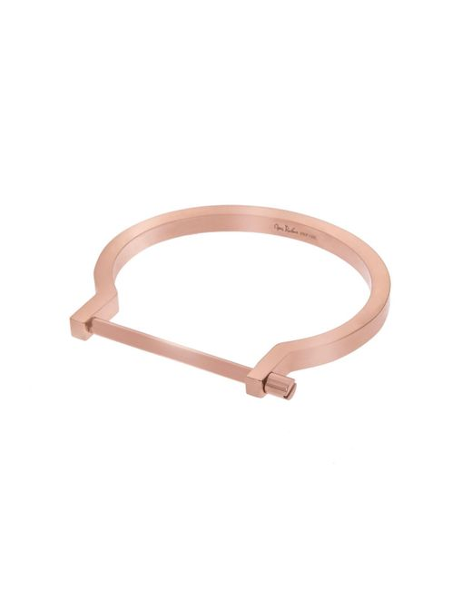 Opes Robur - Metallic Rose Gold Classic Screw Cuff Bracelet - Lyst