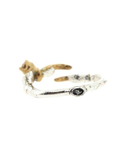 Tessa Metcalfe | Metallic Single Claw With An Opal Mini Ring | Lyst