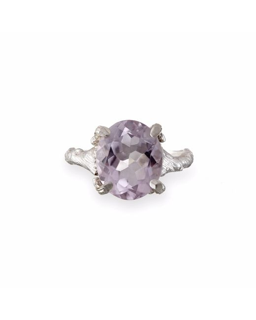 Chupi - Metallic Drop In The Wild Amethyst Ring In Silver - Lyst