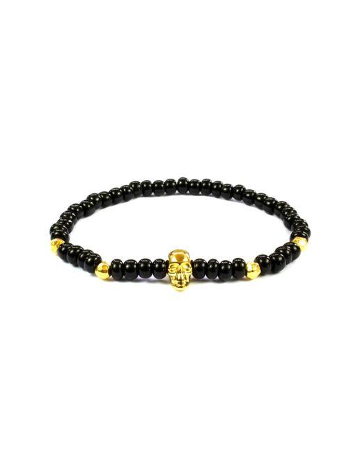 CLARISTE JEWELRY | Men's Skull Bracelet Black & Gold for Men | Lyst