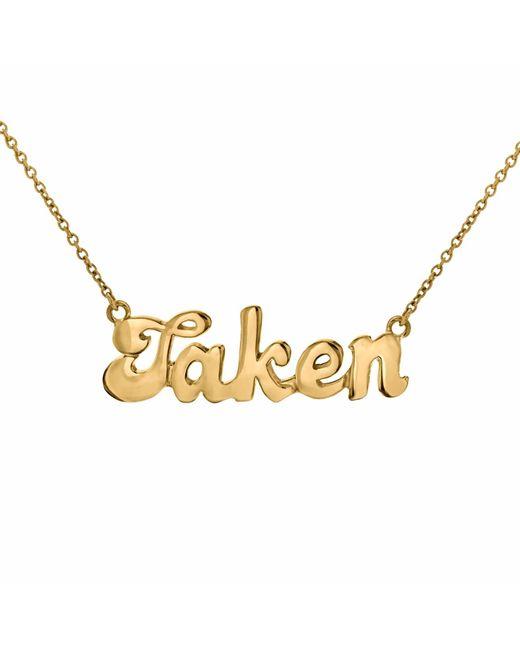 "True Rocks - Metallic ""taken"" Necklace Yellow Gold - Lyst"