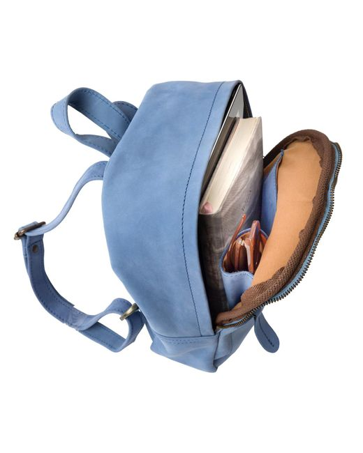 ... MAHI Leather - Mini Backpack In Pastel Blue Suede Leather - Lyst ... 5289d1e08f0a4