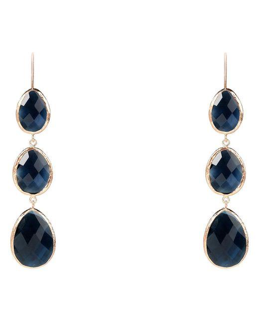 Latelita London | Multicolor Rosegold Triple Drop Earring Sapphire Hydro | Lyst