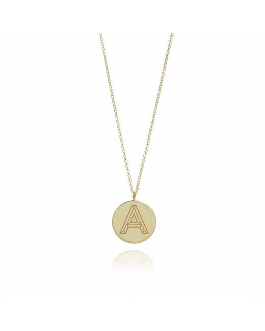 Myia Bonner - Metallic Gold Facett Initial Necklace A-z - Lyst