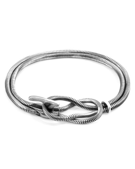 Anchor & Crew - Metallic Padstow Mooring Silver Chain Bracelet for Men - Lyst
