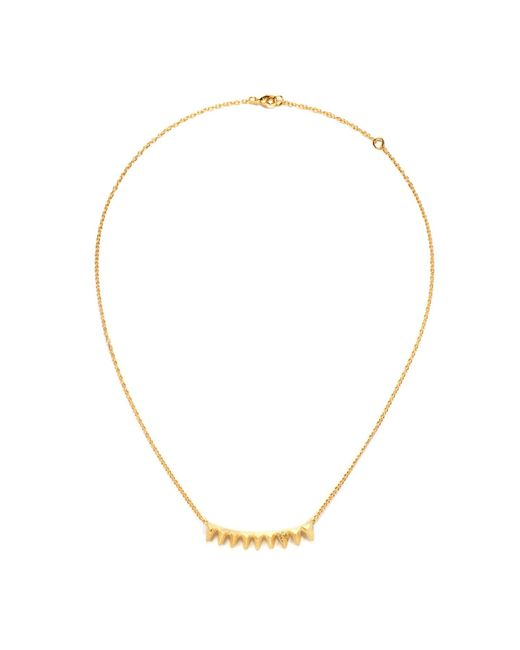 Ona Chan Jewelry | Metallic Multi Triangle Necklace Gold | Lyst