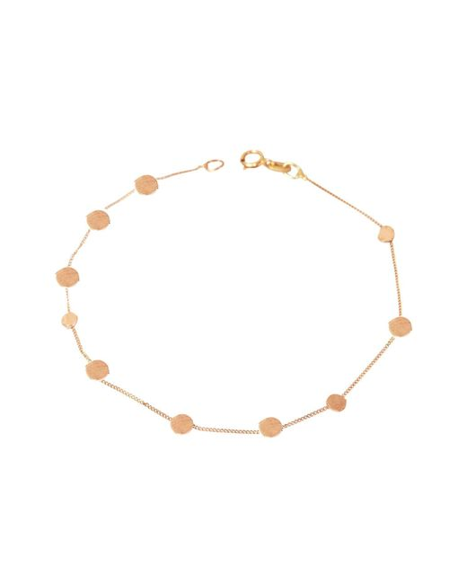 Lily Flo Jewellery - Metallic Stardust Scattered Stars Solid Rose Gold Bracelet - Lyst