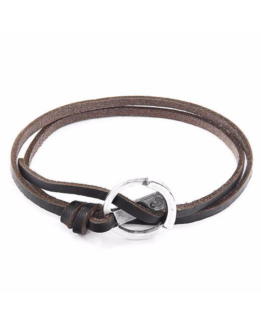 Anchor & Crew - Metallic Dark Brown Ketch Silver & Leather Bracelet - Lyst