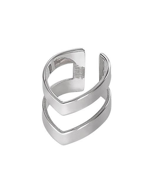 Dutch Basics - Metallic Silver Double Point Ear Cuff - Lyst
