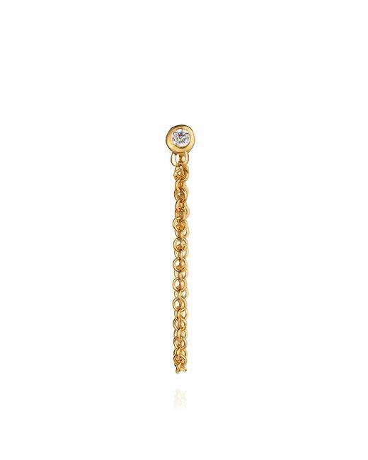 Lee Renee | Metallic Diamond And Chain Stud Earring | Lyst
