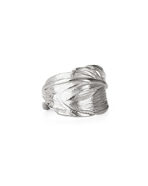 Chupi | Metallic Swan Feather Ring In Silver | Lyst