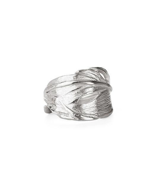 Chupi   Metallic Swan Feather Ring In Silver   Lyst