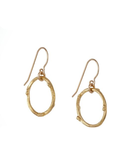 Chupi | Metallic Hawthorn Twig Infinity Earrings Gold | Lyst