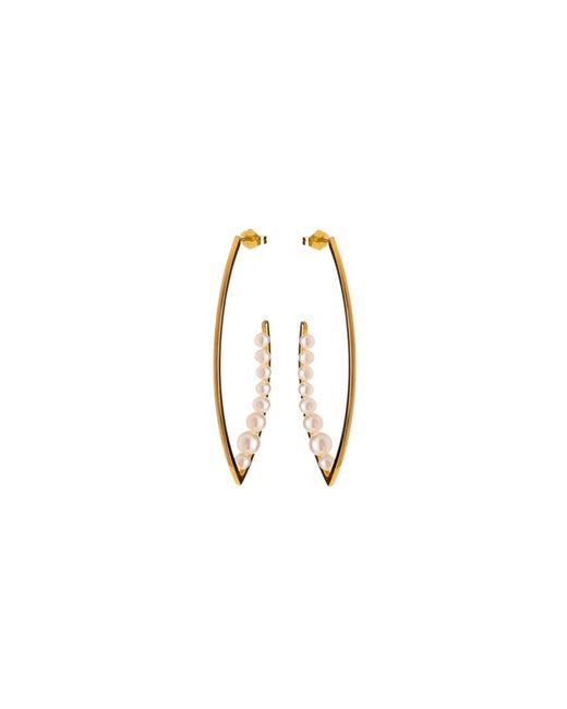 Nina Kastens Jewelry | Metallic Blake Pearl Earrings | Lyst